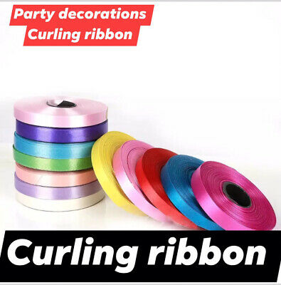 60 METER BALLOON CURLING RIBBON FOR PARTY GIFT WRAPPING BALLOONS STRING TIE New • 0.99£