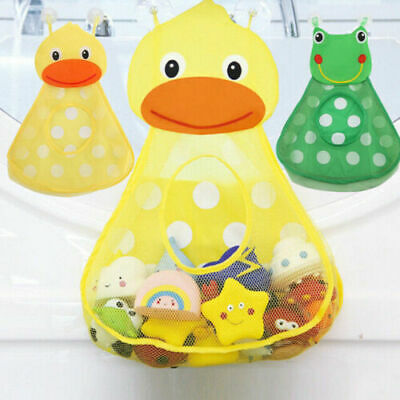 Baby Kid Bath Toy Hanging Storage Bags Duck Frog Mesh Bathroom Organizer Basket • 3.29£