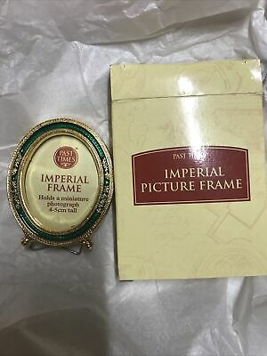 New Unused Green Enamel Imperial Frame Miniature Photograph Past Times 5cm Tall • 8.76£