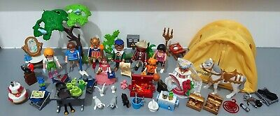 PLAYMOBIL LOT - 9 People & Accessories Inc. Bride, Princess, King, Pirate, Horse • 0.99£