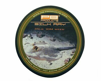 £14.99 • Buy PB Products Silk Ray  *45lb OR 65lb* WEED OR GRAVEL - Lead Free Carp Leader