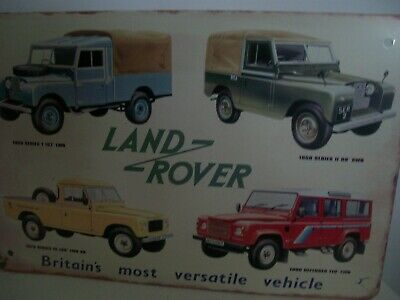 Land Rover Motors1958 1979 1990 Vintage Design Tin Sign Garage Mancave • 7£