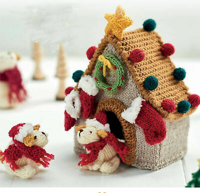 £1.39 • Buy Knitting Pattern - Christmas Mummy Dog And Her Puppies Kennel Double Knit 437
