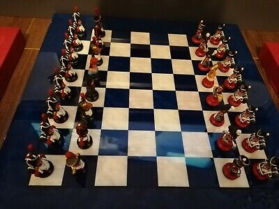 £600 • Buy Chas C Stadden Very Rare Studio Painted Waterloo Chess Busts Set Figurines
