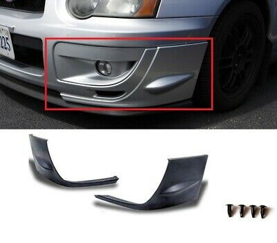 $62.99 • Buy For 2004-05 Subaru Impreza Wrx Sti Gd 2pc Front Bumper Side Splitters Covers Cap