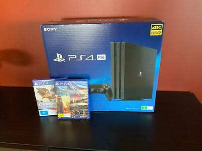 AU520 • Buy PlayStation 4 Pro (PS4 Pro) 1TB + 2 Games! Brand New, Unopened, Aus Stock!