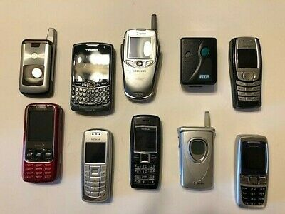 $ CDN38.07 • Buy Lot Of 10 Used Vintage Cell Phones And Pager