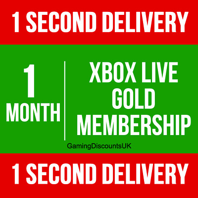 $ CDN6.88 • Buy 1 MONTH GOLD - Xbox Live Membership Pass - Instant Delivery - Xbox One, Xbox 360