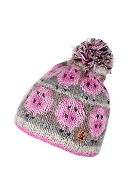 Pachamama Fair Trade Handmade 100% Wool Bobble Beanie Style Drift Of Pigs New • 19£