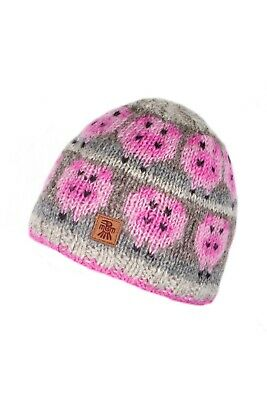 Pachamama Fair Trade Handmade 100% Wool  Beanie Style Drift Of Pigs New • 17.50£
