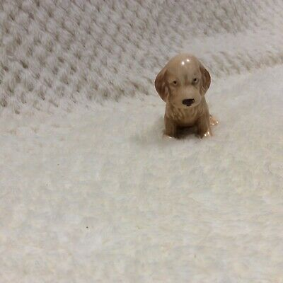 SYLVAC BEIGE WITH BROWN EARS SPANIEL SITTING PUPPY No.115 EXCELLENT CONDITION • 12£