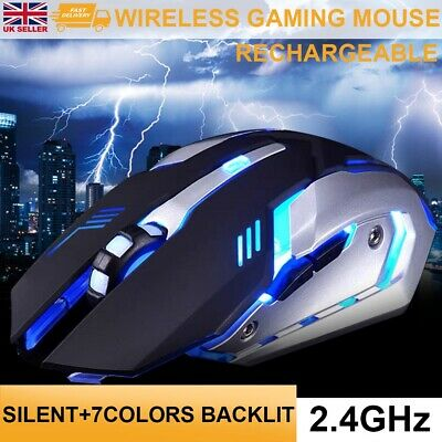 £8.19 • Buy New LED Wireless Mouse Cordless Optical Mice For PC Laptop Computer 2.4GHz Games