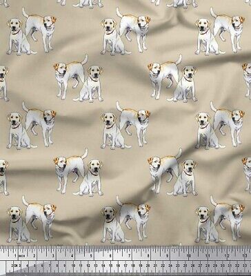 Soimoi Cotton Poplin Fabric Labrador Dog Print Fabric By The Metre-1aR • 7.99£