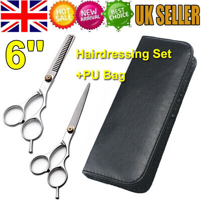 6'' Professional Barber Hair Cutting & Thinning Scissors Shears Hairdressing Kit • 4.99£