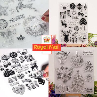 Clear Silicone Stamp Cling Seal Scrapbook Card Making Christmas DIY Craft Decor • 0.99£