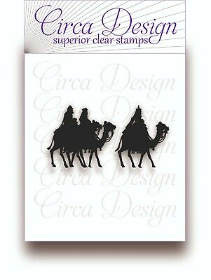 Clear Unmounted Christmas Wise Men Rubber Stamp XM IM 63 • 3.95£