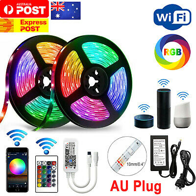 AU32.50 • Buy 12V 5M Smart WiFi 300 RGB LED Strip Lights Waterproof Alexa Google Home Echos AU