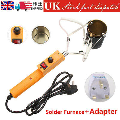 380W Electric Lead Melting Pot Solder Furnace Casting Heads Adjust W/ Adapter • 16.79£