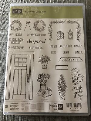 Stampin Up! 'At Home With You' Clear Stamp Set New And Unused. Christmas. • 24£