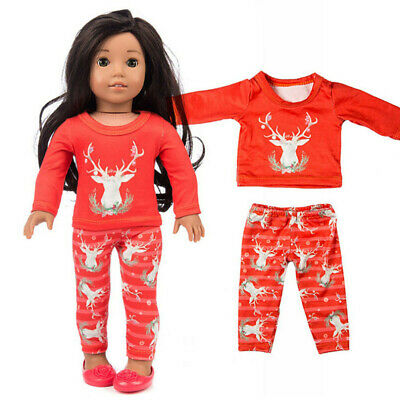 Chirstmas Clothes Pants Shirt For 18 Inch American Boy Doll Accessory Girl Toys • 5.89£