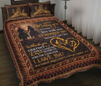Horse Custom Personalized Message Duvet Cover Bedding Sets Lovers Couples Gifts • 53.54£