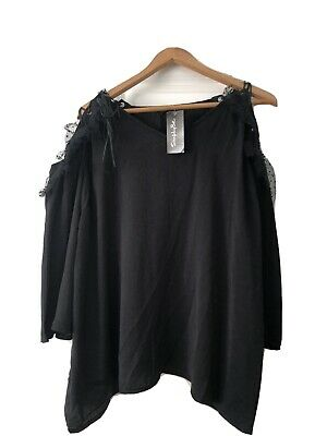 AU40 • Buy Asos Curve Simply Be Top Size 22 BNWOT Black Loose Fit And Wide Sleeves