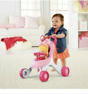£37.99 • Buy Fisher-Price Princess Stroll-Along Musical Walker And Doll Gift Set