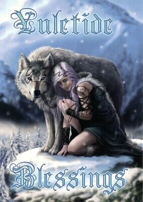 £3.50 • Buy Winter Protector   Wolf Christmas Card   Anne Stokes AN71