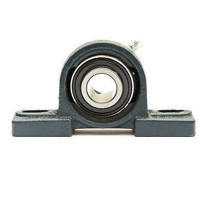 UCP204 NP20 Pillow Block Housed Bearing 20mm Bore Cast Iron Housing 2 Bolt • 5.76£