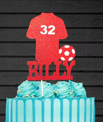 "8"" Personalised Liverpool Colours Football Birthday Cake Topper Decoration • 7£"
