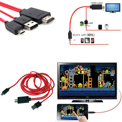 1080p MHL Micro USB To HDMI Cable TV Lead For Samsung Galaxy S5 S4 S3 Note3 Tab  • 4.99£