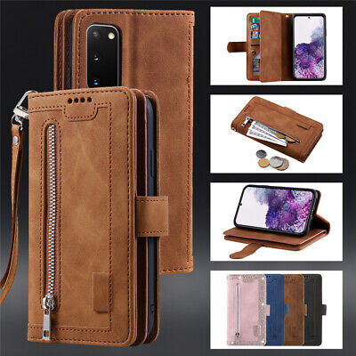 $ CDN13.02 • Buy For Samsung Galaxy S20 S10e S9 S8+ Zipper Magnetic Wallet Case Shockproof Cover