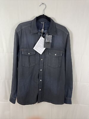 Mens Diesel Waxed Denim Shirt. New Tagged Size Large • 34.99£