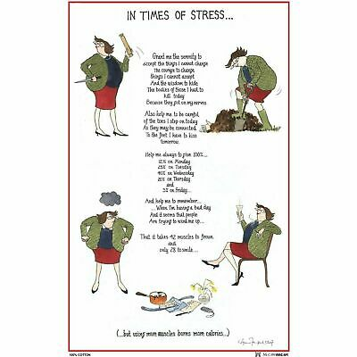 Samuel Lamont In Times Of Stress Cotton Tea Towel, Quality Textiles Home Kitchen • 6.36£