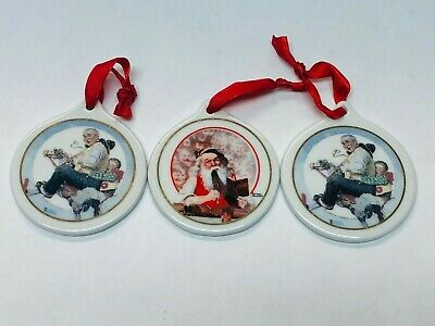 $ CDN16.99 • Buy JCPenney Norman Rockwell Collector Series Ornaments 1998 & 1997 Christmas VTG