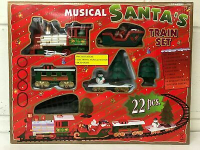 Santa Christmas Tree Train Track Set Decoration Lights And Sound Kids Toy Gift  • 17.99£