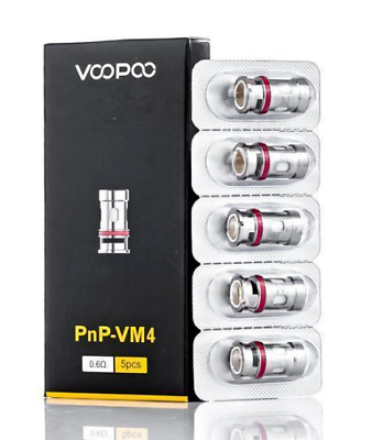 VooPoo VINCI PnP-VM1, M2, VM3, VM4, VM5, VM6,R1,R2 Replacement Coils | Pack Of 5 • 10.99£