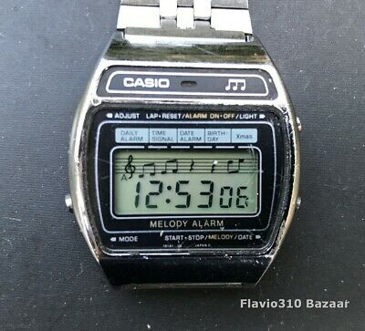 Very Rare 1981 CASIO M-1230 (82) Melody Alarm Japan D 35mm Watch All Working • 179.02£