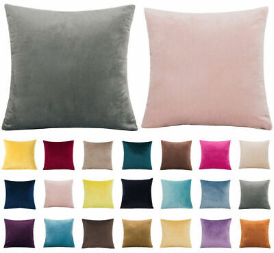 AU11.41 • Buy 16  18  20  22  24  Large Velvet Plain Cushion Cover Pillow Case Home Sofa Decor