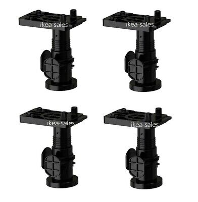 £7.99 • Buy IKEA METOD Legs 8cm Adjustable  X4 PACK  For Metod  Kitchen Cabinets.IN STOCK