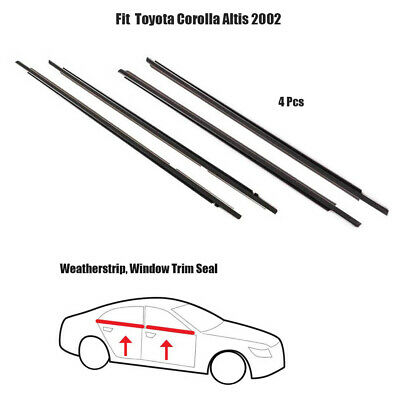 $194.90 • Buy Outer Black Weatherstrip Window Trim Seal For Toyota Corolla Altis 2002 ZZE121