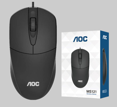 AU12.95 • Buy AOC M121 Optical LED Wired Mouse Mice With USB Cable For PC Laptop Computer OZ