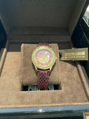 Roberto Cavalli Watch By Frank Muller Red Mother Of Pearl Dial Ladies Leather • 299£