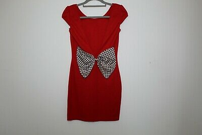 £10 • Buy Paprika Red Backless Bow Dress