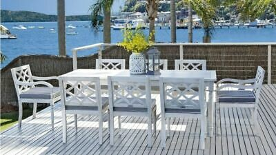 AU2199 • Buy Marie - 9 Piece Outdoor Setting - Solid Eucalyptus Timber - With 2100mm Table