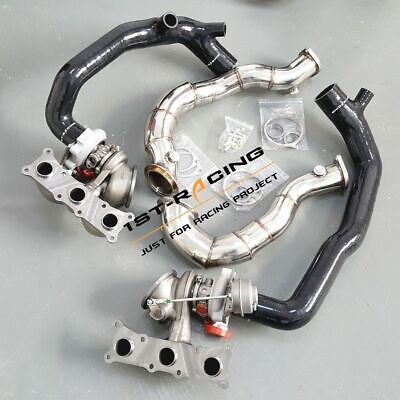 $ CDN1641.57 • Buy TD04L 16T Twin Turbos+2'' Inlet Pipes+3'' Catless Downpipes For BMW N54 335xi
