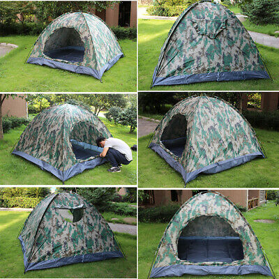 AU44.90 • Buy 2-4 Person Instant Pop-Up Camping Tent Camouflage Waterproof For Family Hiking