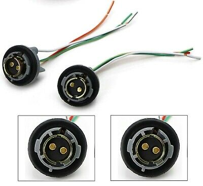 $10 • Buy Universal Pigtail Wire Female Socket 1157 U Two Harness Stop Brake Replacement