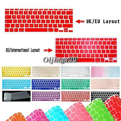£3.49 • Buy Silicon Rubber UK / USA Keyboard Skin Cover For Apple Macbook Air Pro Retina