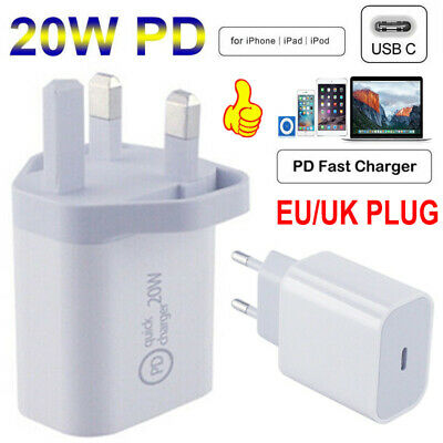 AU9.21 • Buy 20W Fast Wall Charger USB-C Power Adapter Cable For IPhone 12 Pro Max And IPad